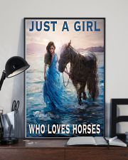 Just A Girl Who Loves Horse 11x17 Poster lifestyle-poster-2