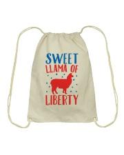 Sweer Llama Of Liberty Drawstring Bag thumbnail