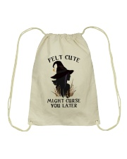 Witch Felt Cute Drawstring Bag thumbnail