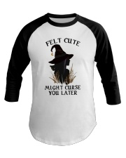 Witch Felt Cute Baseball Tee thumbnail