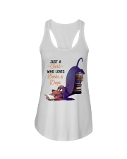 Just A Girl Who Loves Books Ladies Flowy Tank thumbnail