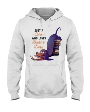 Just A Girl Who Loves Books Hooded Sweatshirt thumbnail