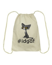 Cat IDGAF Drawstring Bag thumbnail