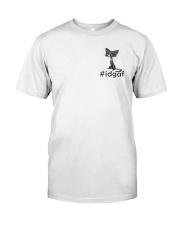 Cat IDGAF Classic T-Shirt front