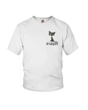 Cat IDGAF Youth T-Shirt thumbnail