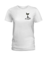 Cat IDGAF Ladies T-Shirt thumbnail