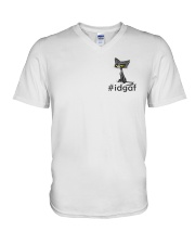 Cat IDGAF V-Neck T-Shirt thumbnail
