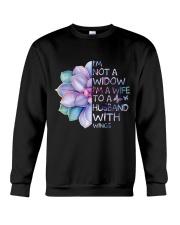 Im A Wife To A Husband Not A Widow Crewneck Sweatshirt thumbnail