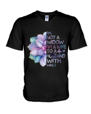 Im A Wife To A Husband Not A Widow V-Neck T-Shirt thumbnail