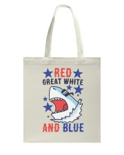 Red Great White And Blue Tote Bag thumbnail