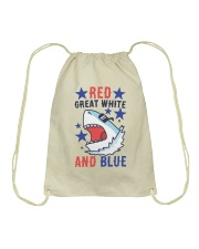 Red Great White And Blue Drawstring Bag thumbnail