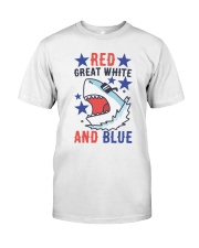 Red Great White And Blue Classic T-Shirt thumbnail