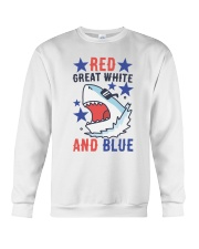 Red Great White And Blue Crewneck Sweatshirt thumbnail
