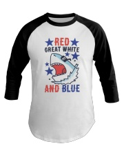 Red Great White And Blue Baseball Tee thumbnail