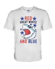 Red Great White And Blue V-Neck T-Shirt thumbnail