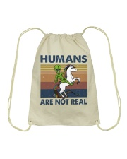 Humans Are Not Real Drawstring Bag thumbnail