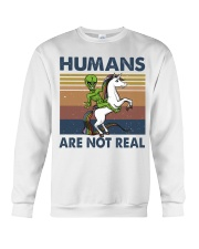 Humans Are Not Real Crewneck Sweatshirt thumbnail