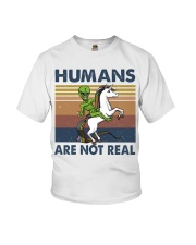 Humans Are Not Real Youth T-Shirt thumbnail