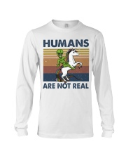 Humans Are Not Real Long Sleeve Tee thumbnail