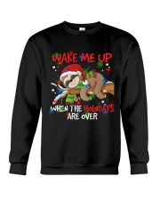 Wake Me Up Lazy Sloth Crewneck Sweatshirt thumbnail