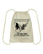 I Am His Wife Drawstring Bag thumbnail