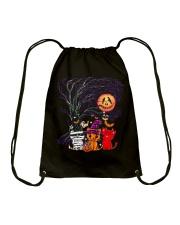 Halloween Cat Drawstring Bag thumbnail
