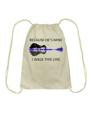 Because He Is Mine Drawstring Bag thumbnail