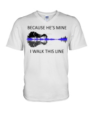 Because He Is Mine V-Neck T-Shirt thumbnail
