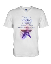 Theres A Million Thing V-Neck T-Shirt tile