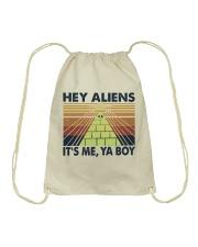 Hey Aliens Drawstring Bag thumbnail
