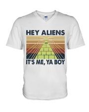 Hey Aliens V-Neck T-Shirt thumbnail