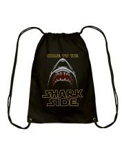 Come To The Sharkside Drawstring Bag thumbnail