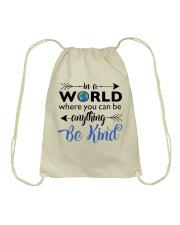 Be Anything Be Kind Drawstring Bag thumbnail