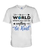 Be Anything Be Kind V-Neck T-Shirt thumbnail