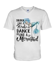Drink Like A Pirate V-Neck T-Shirt thumbnail
