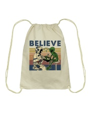 Believe In Alien Drawstring Bag thumbnail