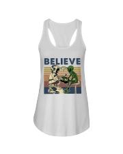 Believe In Alien Ladies Flowy Tank thumbnail
