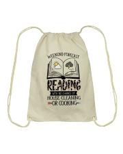 Weekend Forecast Reading Drawstring Bag thumbnail