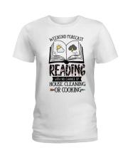 Weekend Forecast Reading Ladies T-Shirt thumbnail
