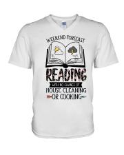 Weekend Forecast Reading V-Neck T-Shirt thumbnail