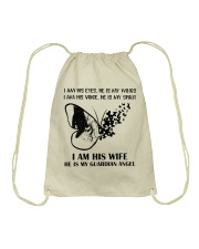 I Am His Wife Drawstring Bag tile