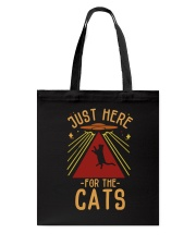 Just Here For The Cats Tote Bag thumbnail