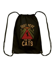 Just Here For The Cats Drawstring Bag thumbnail