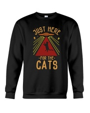 Just Here For The Cats Crewneck Sweatshirt thumbnail