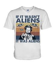 It Was Aliens V-Neck T-Shirt thumbnail