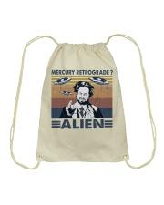 Mercury Retrograde Alien Drawstring Bag thumbnail