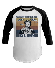 Mercury Retrograde Alien Baseball Tee thumbnail