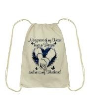 A Big Piece Of My Heart Drawstring Bag thumbnail