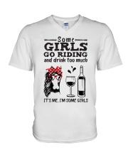 Some Girls Go Riding V-Neck T-Shirt thumbnail