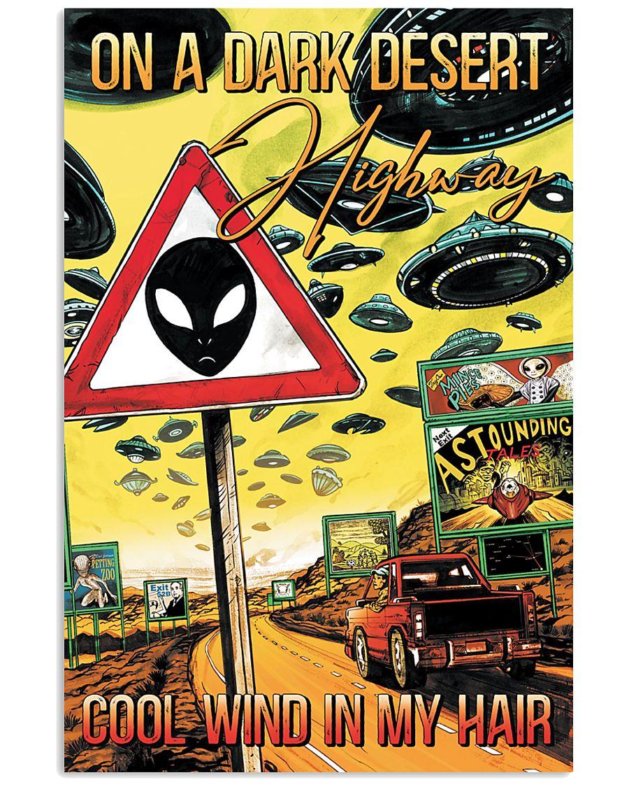 On A Dark Desert Highway 11x17 Poster